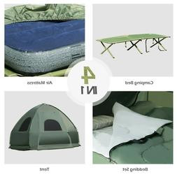 All-in-1 Camping Combo Pop-Up Tent/Bed/Mattress/Sleeping Bag
