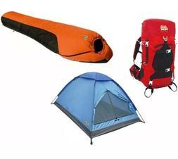 Alpinizmo High Peak USA 20F Sleeping Bag + 3 Men Tent + 40 L