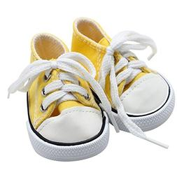 AMOFINY New Canvas Lace Up Sneakers Shoes American Girl & Bo