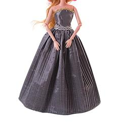 AMOFINY Fashion 1PC Pure Wedding Dress For Barbie Doll Eveni