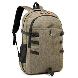 Gyqjs 35L Large Capacity Backpack Oxford Cloth Leisure Sport