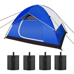 Backpacking Tents Outdoor Sports Tent w/ 4-Pack Weight Bags