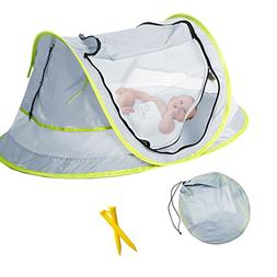 Baby Beach Tent, Portable Baby Travel Bed UPF 50+ Sun Shelte