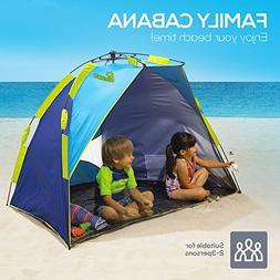 Beach Tent, Nacuwa Pop Up Lightweight Sun Shelter, 2-Person