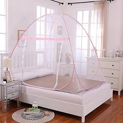 Bed Mosquito Net, Amever One Touch Free Installation Mosquit