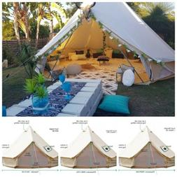 Bell Tent 4-Season Sun Canopy Sibley Tent Waterproof Cotton