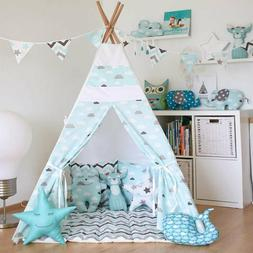 Free Love @blue cloud kids play tent indian teepee children