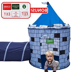Play Kreative BLUE Knights Castle Tent with Crawling Tunnel