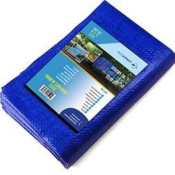 12x16Waterproof Multi-Purpose Poly Tarp – Blue Tarpaulin P