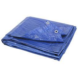 Blue Multi-Purpose 6-Mil Waterproof & UV Resistant 8ft x 10f