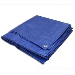 Blue Tarp All Weather Reinforced Tarpaulin Canopy Tent Shelt