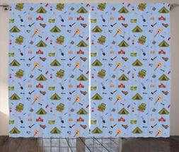 Boy Scout Curtains 2 Panel Set Decoration 5 Sizes Window Dra