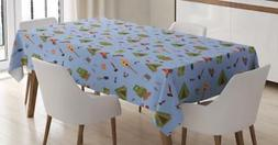 Boy Scout Tablecloth Ambesonne 3 Sizes Rectangular Table Cov