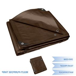 Texsport Heavy-Duty Reinforced Multi-Purpose Waterproof Brown Tarp