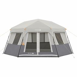 Ozark Trail Cabin Tent Instant Hexagon Shelter 8-Sleeper Out