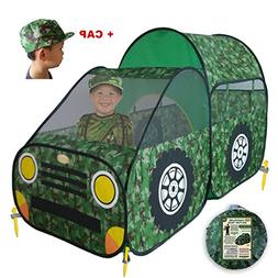 WooHoo Toys Kid's Camouflage Play Tent – Army/Military Sty