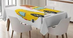 Camper Tablecloth Ambesonne 3 Sizes Rectangular Table Cover