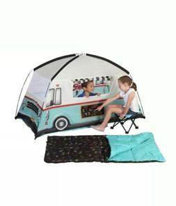 Camping Kid's Food Truck 4 Piece Combo Tent ~ Sleeping Bag ~