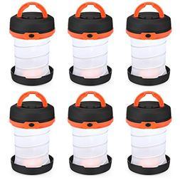 SHINE HAI 6-Pack Camping Lantern Flashlights, Collapsible LE