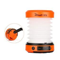 ThorFire LED Camping Lantern Lights Hand Crank USB Rechargea