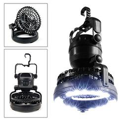2-in-1 18 LED Camping Light with Ceiling Fan, Combo Flashlig