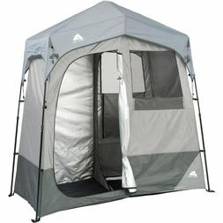 Camping Shower Tent 2 Rm 7'x3.5' Portable Utility Shelters I