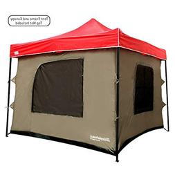 Camping Tent attaches to any 10'x10' Easy Up Pop Up Canopy T