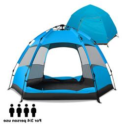 Camping Tent Instant Pop Up 60-Second Quick Setup Cabin Wate