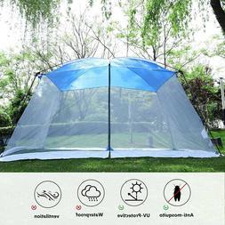 Camping Tent Mesh Net Wall Outdoor Gazebo Canopy Sunshade wi