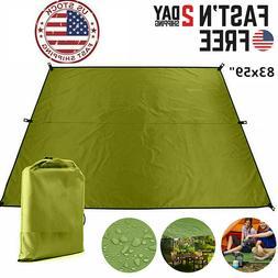 Camping Tent Tarp SunShade Rain Shelter Cover Beach BBQPicni