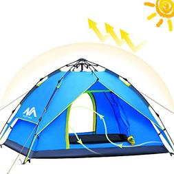 AYAMAYA Camping Tents 3-4 Person  Easy Pop Up, Waterproof
