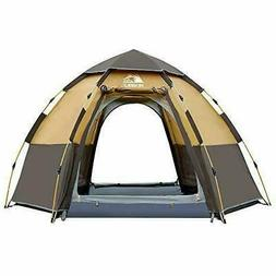 Hewolf Camping Tents 2-4 Person  Waterproof  Quick Set up Fa