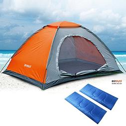 camping3 suit/Double couple family tent/thermal sleeping bag