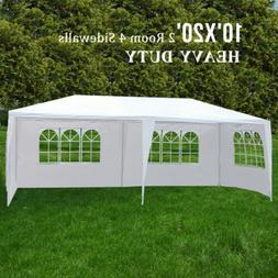 10'x20' Canopy Party Wedding Tent 4 Sidewall Outdoor Gazebo