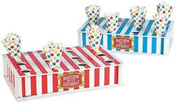 """Carnival Treat Stand with Cones  13 1/2"""" X 2 3/4"""" with 6""""."""
