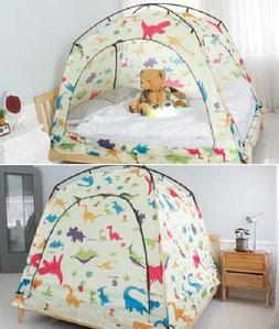 CAMP 365 Child's Indoor Privacy and Play Tent on Bed Sleep C