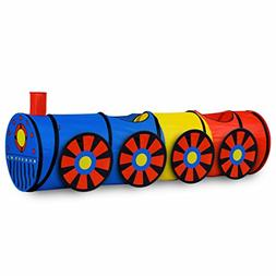 GigaTent 6 Foot Pop Up Kids Play Tunnel - Train Hide and See