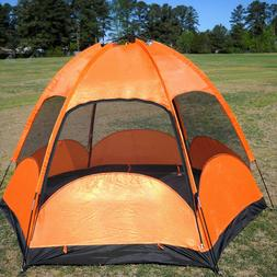CLEARANCE SALE Double Layers Camping Hiking Family Tent w/ R