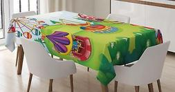 Colorful Circus Tablecloth Ambesonne 3 Sizes Rectangular Tab