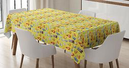 Colorful Tablecloth Ambesonne 3 Sizes Rectangular Table Cove