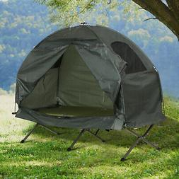 Outsunny Compact Folding One Man Outdoor Travel Camping Cot