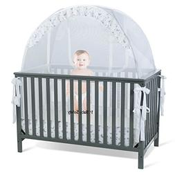 Baby Crib Tent Safety Net Pop Up Canopy Cover - Never Recall