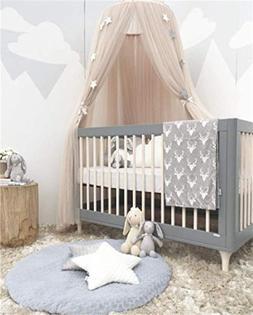 Lotus Karen Cute Bed Canopy Mosquito Net Kids Baby Round Dom