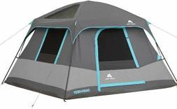 Ozark Trail Dark Rest Cabin Tent 6 Person Family Outdoor Cam