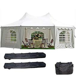 29'x21' Decagonal Wedding Party Tent Canopy Gazebo Heavy Dut