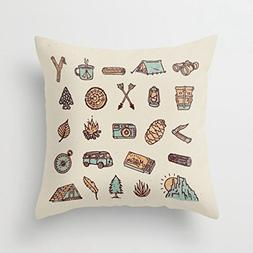 Afagahahs Decorative Throw Pillow Covers Lets Go Camping Ten