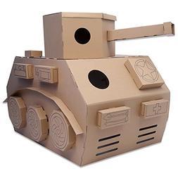 HollyHOME DIY Toy Tank Indoor Paper Houses Cardboard Playhou