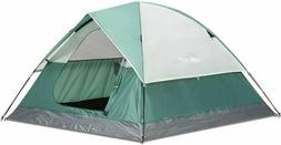 SEMOO Dome Tent Family Camping Water Resistant Green 3-Perso