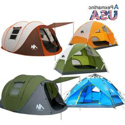 Double layer Instant Pop Up Tent Outdoor 4-6 Person Portable