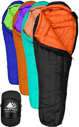 Hyke & Byke Goose Down Sleeping Bag for Backpacking – Eolu